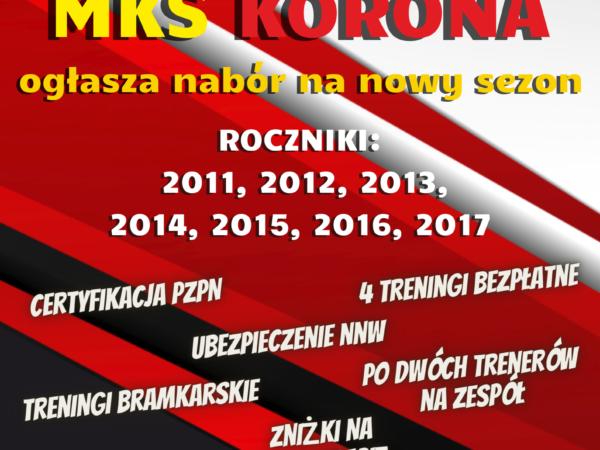 Szkółka piłkarska MKS Korona zaprasza dzieci