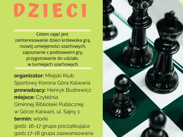 Sekcja szachowa zaprasza dzieci i młodzież